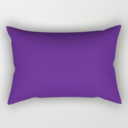 Blue-Violet (Color Wheel) - solid color Rectangular Pillow