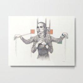 Veronica's Shower Metal Print