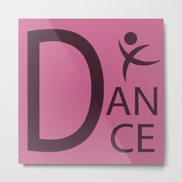 Pink Dance Symbol Metal Print