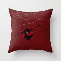 daredevil Throw Pillows featuring My Daredevil by Osvaldo Casanova