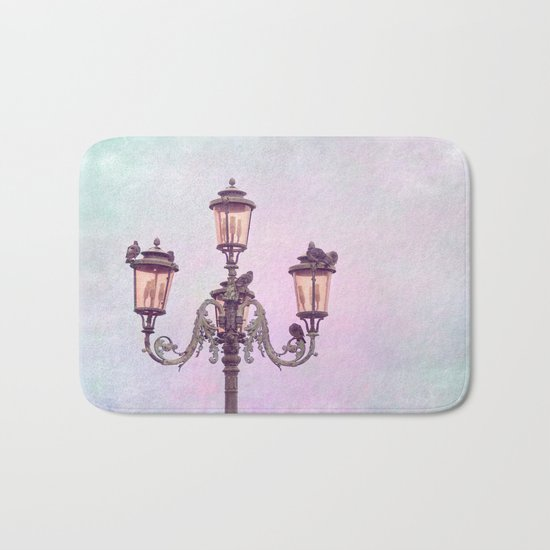 MAGICAL VENICE | Pink Lanterns Bath Mat