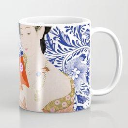 confused timeline with japanese lady Coffee Mug
