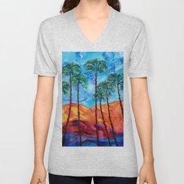 California Palm Trees Unisex V-Neck