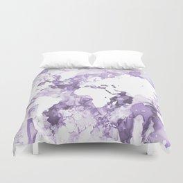 Design 109 Purple World Map Duvet Cover