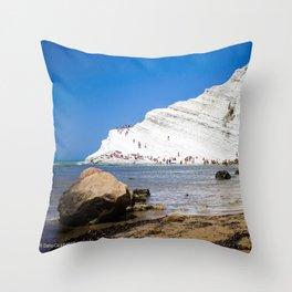 Scala dei Turchi Throw Pillow