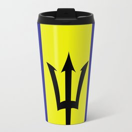 Flag of Barbados Travel Mug