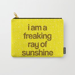 i am a freaking ray of sunshine (Sparkle Pattern) Carry-All Pouch