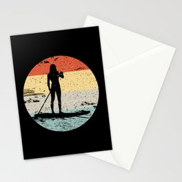 SUP Standup Paddle Board Vintage Gift Stationery Cards
