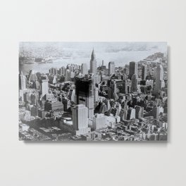 Vintage New York City Metal Print