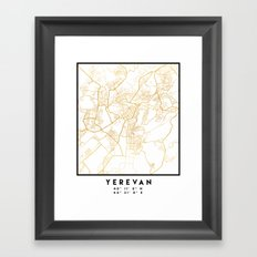 YEREVAN ARMENIA CITY STREET MAP ART Framed Art Print