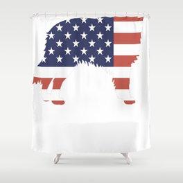 Australian-Shepherd-tshirt,-patriotic-Australian-Shepherd Shower Curtain