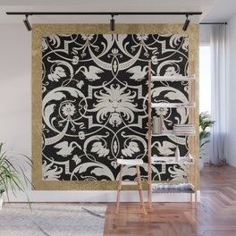 Gilded Intarsia Wall Mural