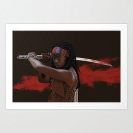 Michonne. Art Print