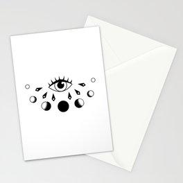 Eye Moon Phase Stationery Cards