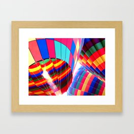 Hot Air Balloon Framed Art Print