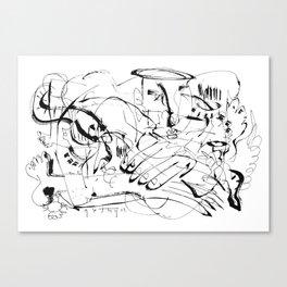 Temptation of Angels - b&w Canvas Print