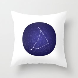 Capricorn - zodiac stars constellation Throw Pillow