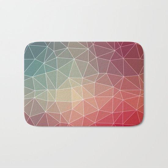 Abstract Geometric Triangulated Design Bath Mat