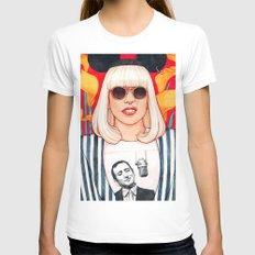jazz art pop punk MEDIUM Womens Fitted Tee White