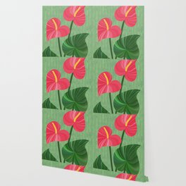 A Pair Of Anthurium Hearts Wallpaper
