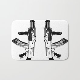 BLACK AK 47 Bath Mat