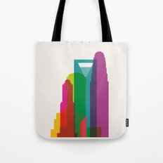 Shapes of Charlotte accurate to scale Tote Bag