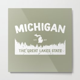 Michigan, The Great Lakes State Metal Print