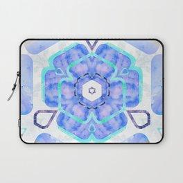 Blue Viola Hybrid Flower Abstract Art Watercolor Laptop Sleeve