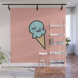 Cotton Candy Ice Cream Wall Mural