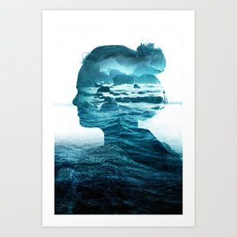 The Sea Inside Me Art Print
