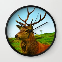 The Stag on the hill Wall Clock