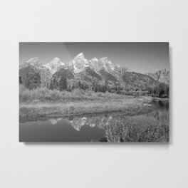 Snow Capped Mountains and a Reflection Metal Print