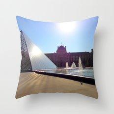 Louvre Paris Throw Pillow