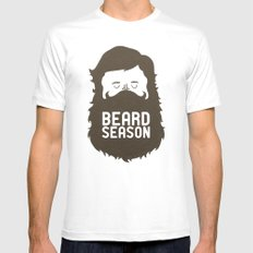 Beard Season X-LARGE Mens Fitted Tee White