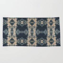 Indigo Triangles Beach Towel