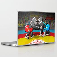 wrestling Laptop & iPad Skins featuring Olympic Wrestling Gorillas by Zoo&co on Society6 Products