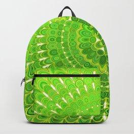Light Green Floral Mandala Backpack