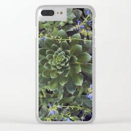 Succulent Smitten Clear iPhone Case