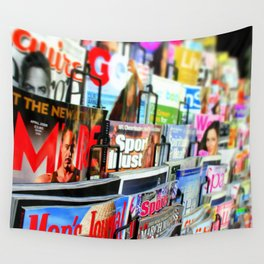 Magazine Stand Wall Tapestry