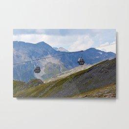 Austria ski lifts Metal Print