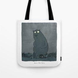Beware Big Bears Tote Bag