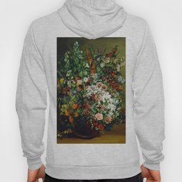Bouquet of Flowers in a Vase by Gustave Courbet (1862) Hoody