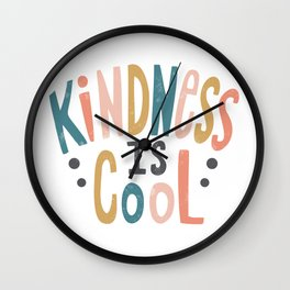 Kindness Is Cool - Boho Girl Wall Clock