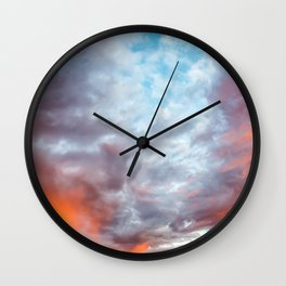 Fire in the Sky III Wall Clock