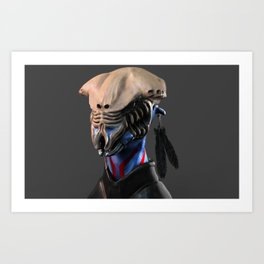 Tribal skullhead Art Print