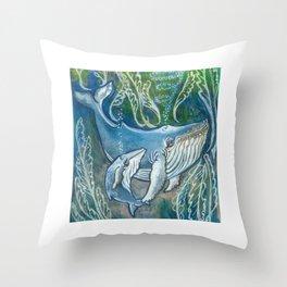 Whale Love Throw Pillow