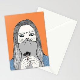 MULHER GATO Stationery Cards