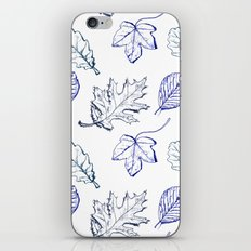 Leaves (navy) iPhone Skin