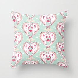 Narwhals in Love Throw Pillow