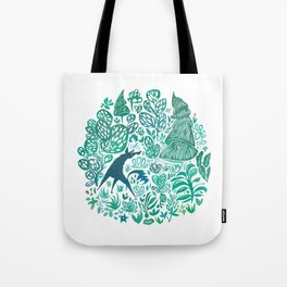 Forest Wolf Tote Bag